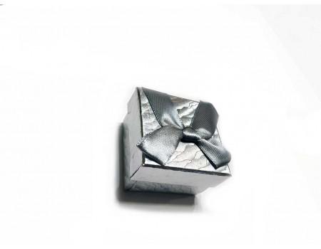 Подарочная коробочка под брелок серебро