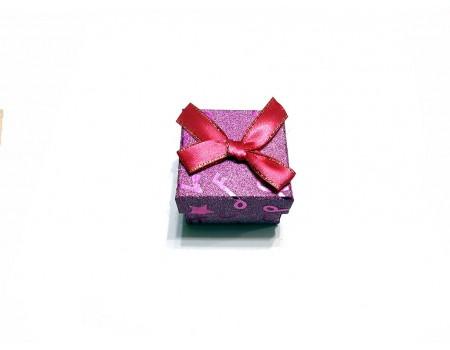 Подарочная коробочка под брелок фиолетового цвета