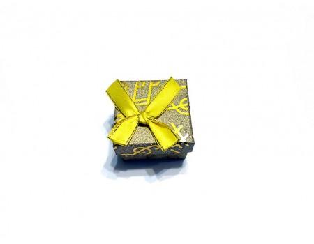 Подарочная коробочка под брелок желтая