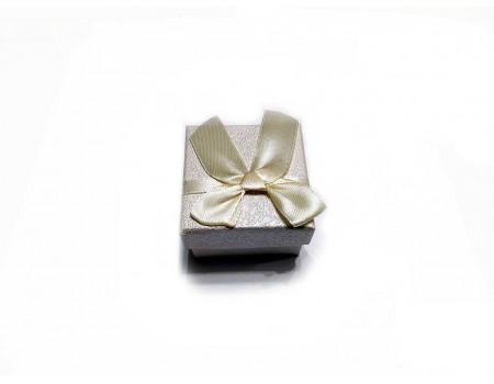 Подарочная коробочка под брелок бежевая