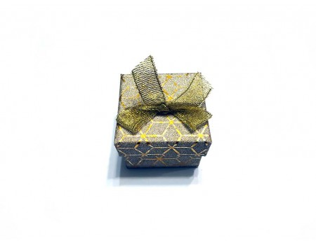 Подарочная коробочка под брелок желтого цвета