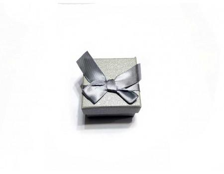 Подарочная коробочка под брелок серая