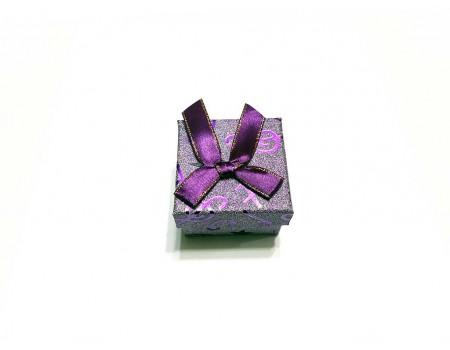 Подарочная коробочка под брелок фиолетовая
