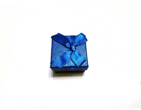 Подарочная коробочка под брелок синего цвета