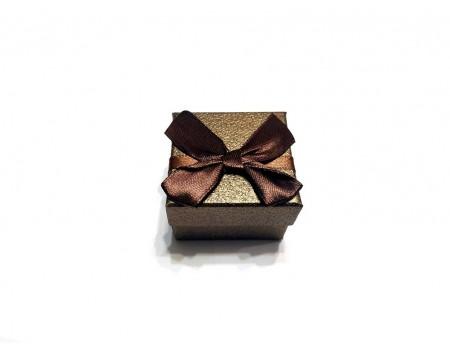 Подарочная коробочка под брелок коричневая