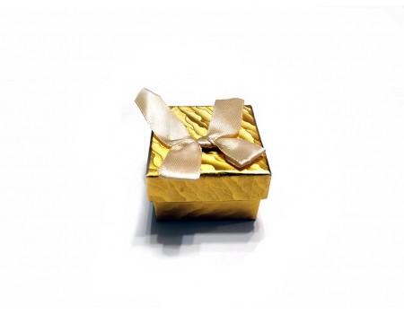 Подарочная коробочка под брелок золото