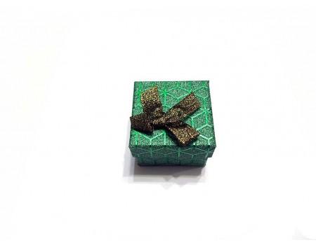 Подарочная коробочка под брелок зеленая