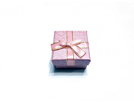Подарочная коробочка под брелок розовая