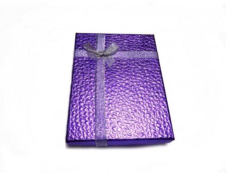 Подарочная коробочка для обложки фиолетовая